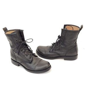 👢Frye Black Leather Lace Up Boots Size 6 B 😁